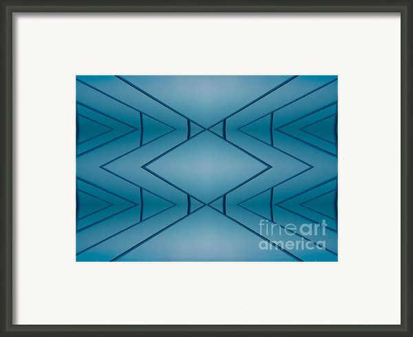 Blue Reflection Framed Print By Odon Czintos