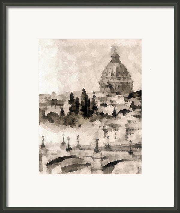 By Italy Framed Print By Odon Czintos