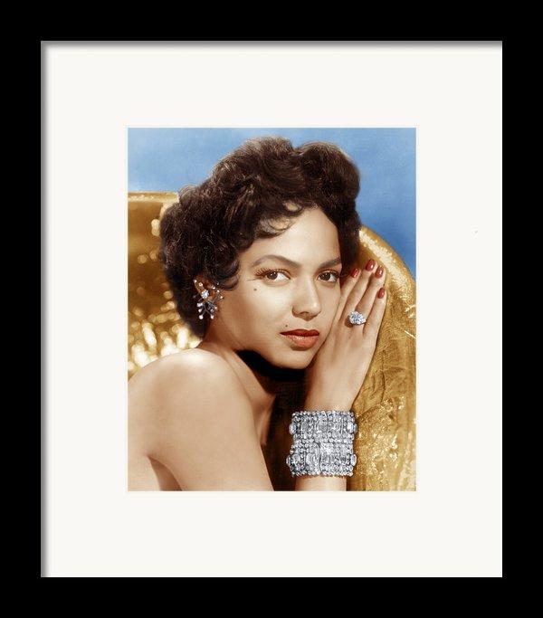Dorothy Dandridge, Ca. 1950s Framed Print By Everett