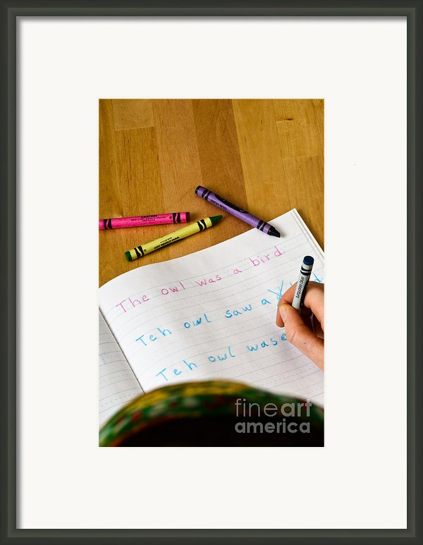 Dyslexia Testing Framed Print By Photo Researchers, Inc.