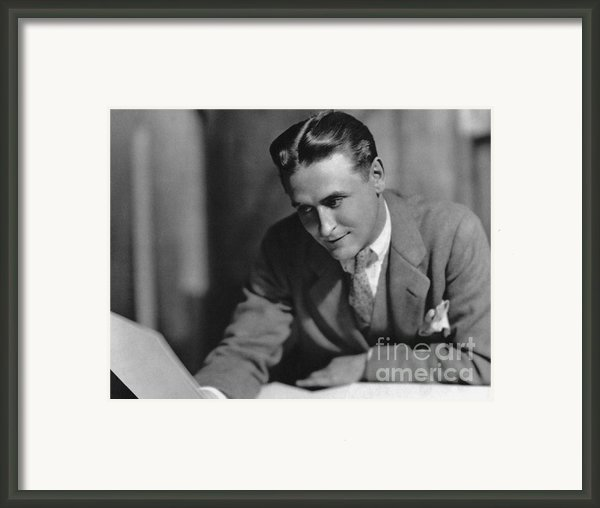 F. Scott Fitzgerald Framed Print By Granger