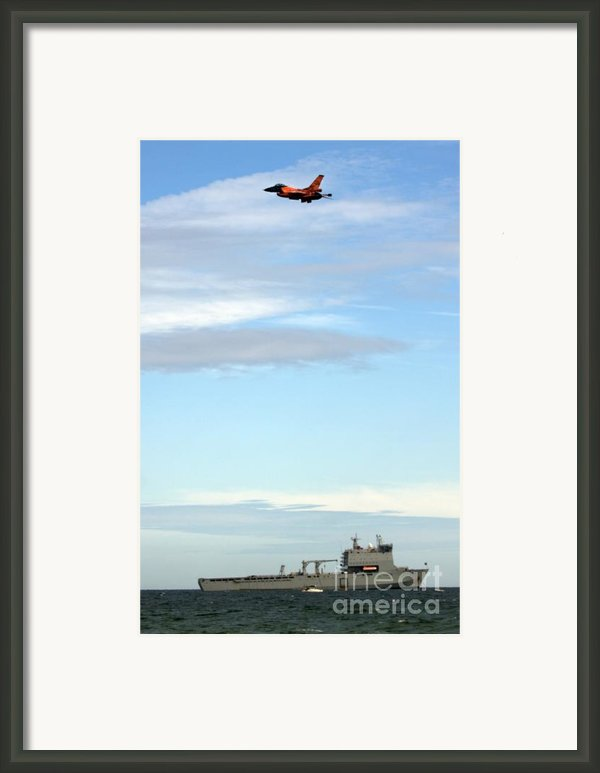 F16 Framed Print By Angel  Tarantella
