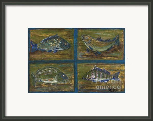 4 Fishes Framed Print By Anna Folkartanna Maciejewska-dyba