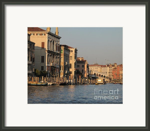 Grand Canal. Venice Framed Print By Bernard Jaubert