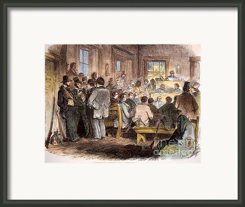Kansas-nebraska Act, 1855 Framed Print By Granger