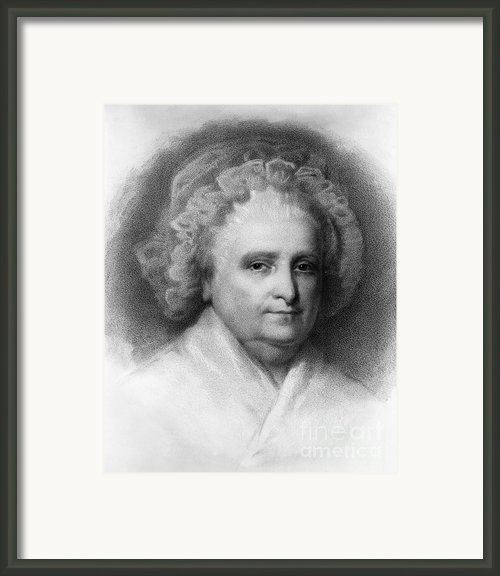 Martha Washington, American Patriot Framed Print By Photo Researchers