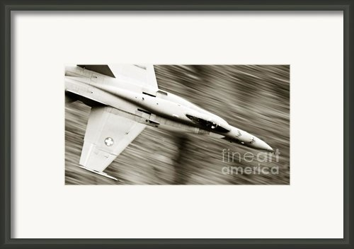 Speed Of Sound Framed Print By Angel  Tarantella