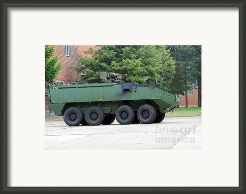 The Piranha Iiic Of The Belgian Army Framed Print By Luc De Jaeger