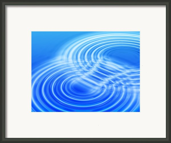 Water Ripples Framed Print By Pasieka