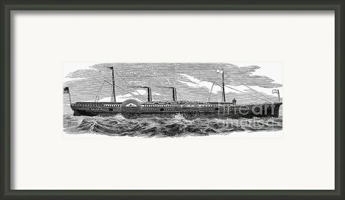 4 Wheel Steamship, 1867 Framed Print By Granger
