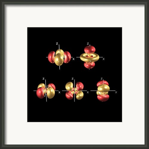 4d Electron Orbitals Framed Print By Dr Mark J. Winter