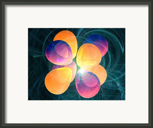 4f2 Electron Orbital Framed Print By Laguna Design