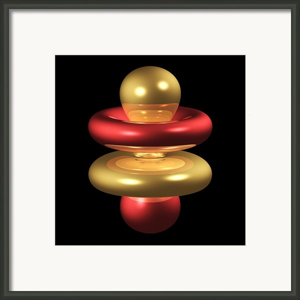 4fz3 Electron Orbital Framed Print By Dr Mark J. Winter