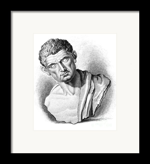 Aristotle, Ancient Greek Philosopher Framed Print By Science Source