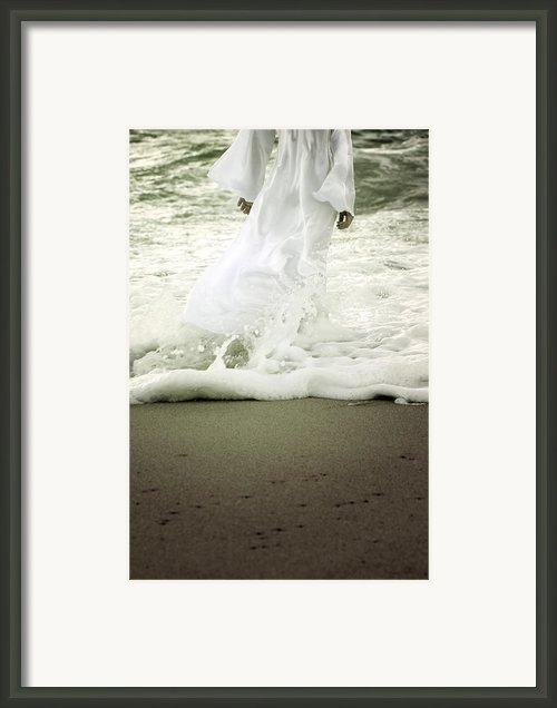 Girl At The Sea Framed Print By Joana Kruse