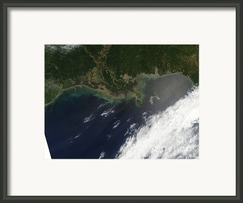 Gulf Oil Spill, April 2010 Framed Print By Nasa