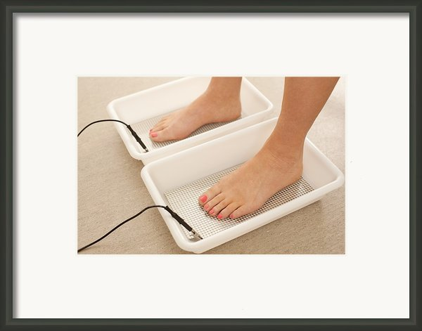 Iontophoresis For Excess Sweating Framed Print By