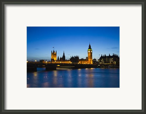 London  Skyline Big Ben Framed Print By David French