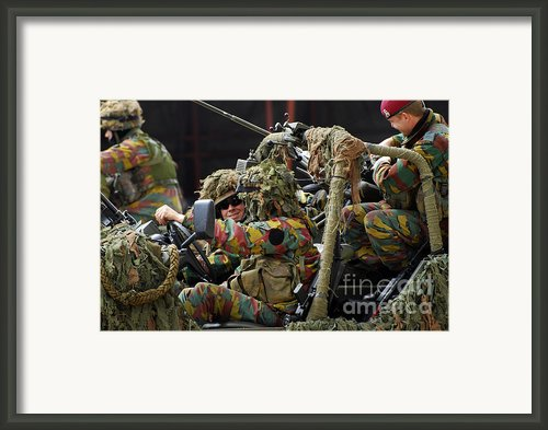 Members Of A Recce Or Scout Team Framed Print By Luc De Jaeger