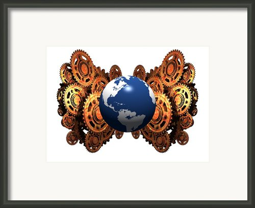Quantum Mechanics, Conceptual Artwork Framed Print By Victor Habbick Visions