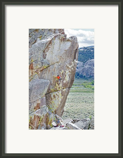 Climber Framed Print By Mark Weber