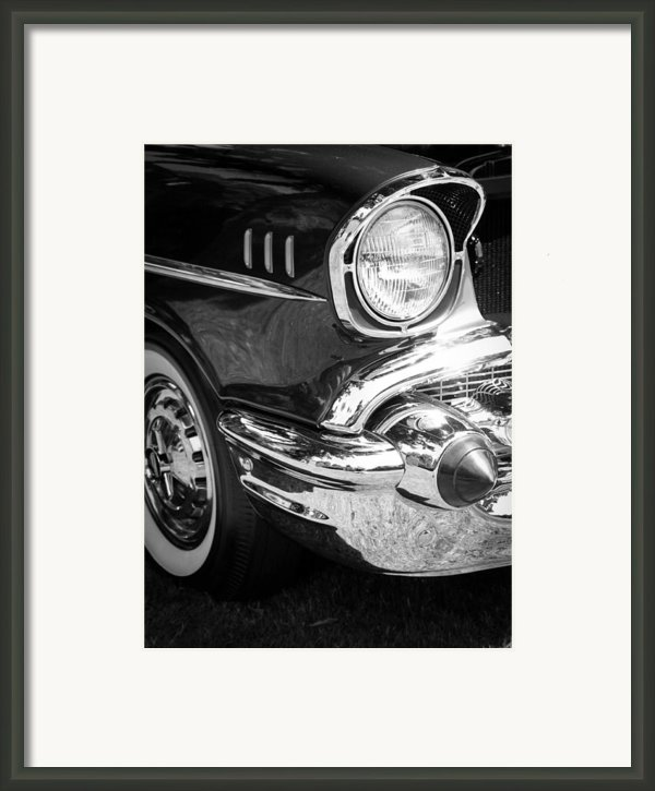 57 Chevy Black Framed Print By Steve Mckinzie
