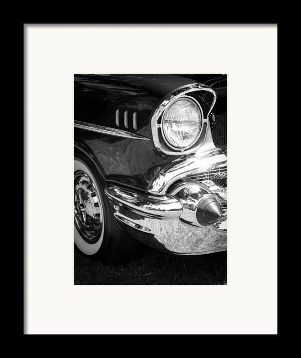 57 Chevy Black Framed Print By Steve Mckinzie