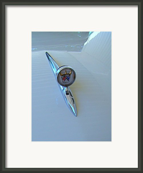 57 Fairlane 500 Emblem Framed Print By Nick Kloepping
