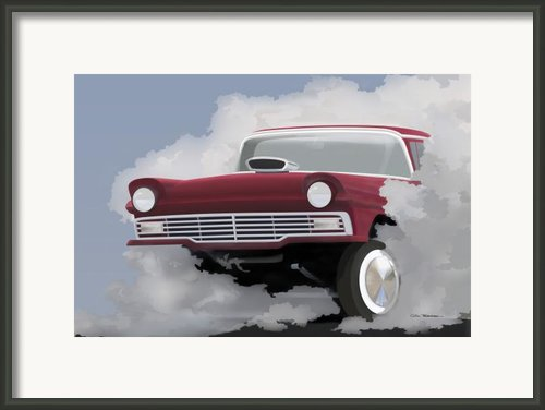 57 Ford Gasser Framed Print By Colin Tresadern