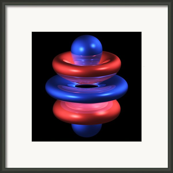 5gz4 Electron Orbital Framed Print By Dr Mark J. Winter
