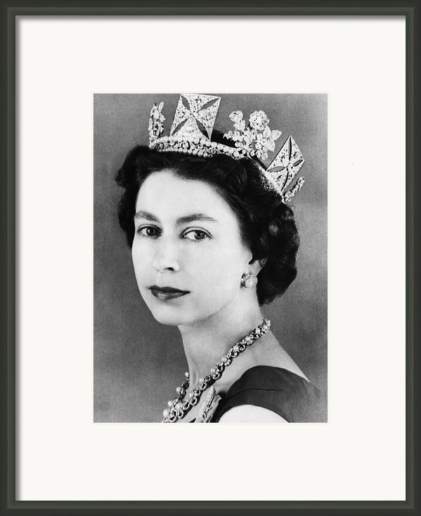 British Royalty. Queen Elizabeth Ii Framed Print By Everett