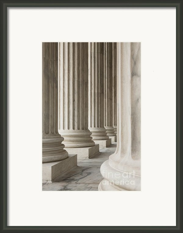 Columns Of The Supreme Court Framed Print By Roberto Westbrook