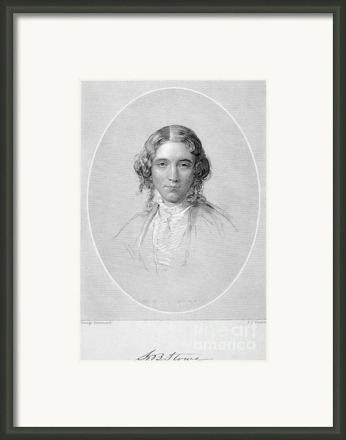 Harriet Beecher Stowe Framed Print By Granger