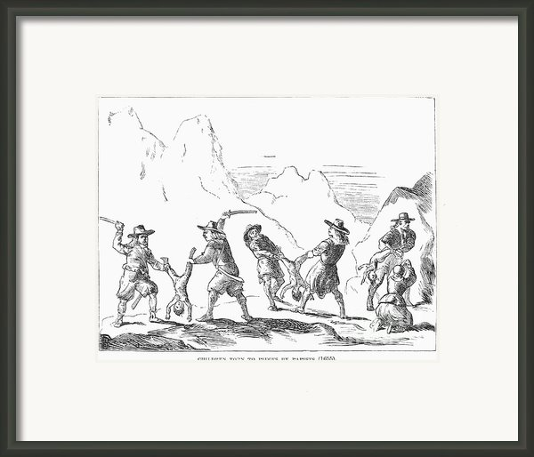 Persecution Of Waldenses Framed Print By Granger
