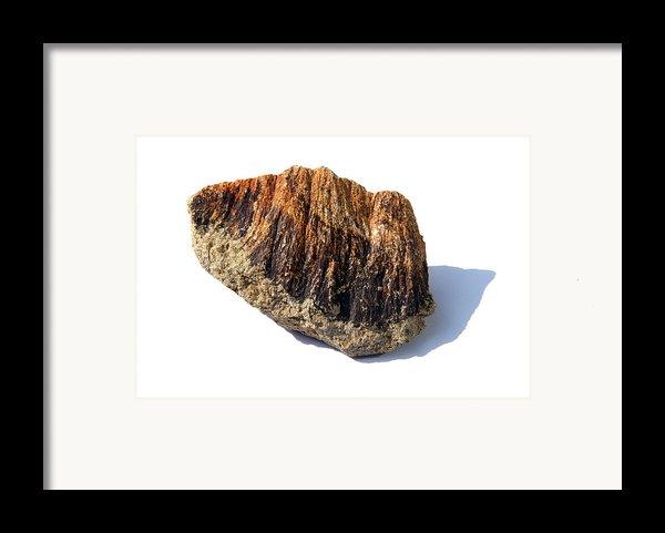 Rock From Meteorite Impact Crater Framed Print By Detlev Van Ravenswaay