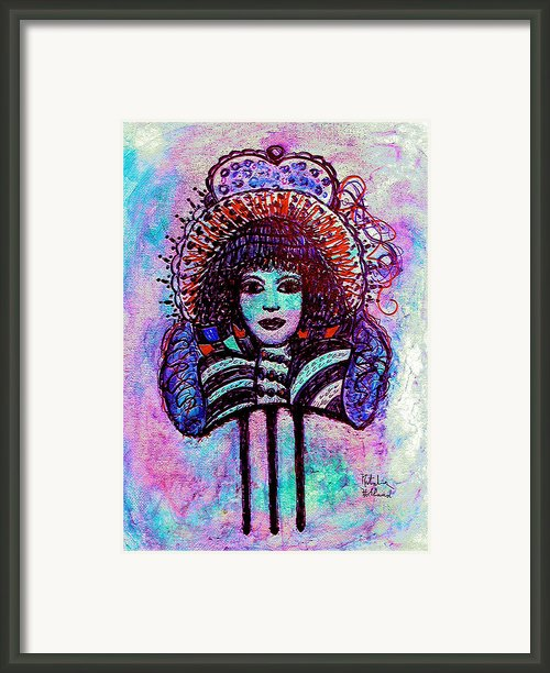 Vintage Hair Comb Framed Print By Natalie Holland
