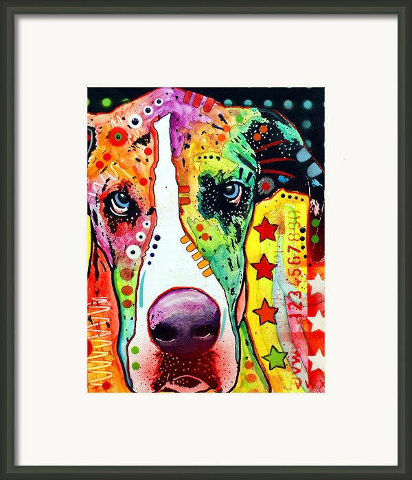 Great Dane Framed Print By Dean Russo