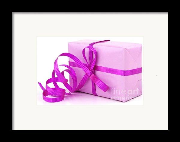 Pink Gift Framed Print By Blink Images