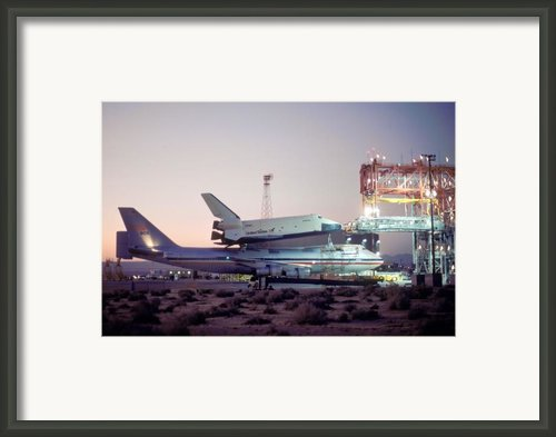 747 With Space Shuttle Enterprise Before Alt-4 Framed Print By Brian Lockett