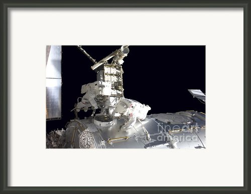 Astronauts Participate Framed Print By Stocktrek Images