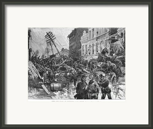 Johnstown Flood, 1889 Framed Print By Granger