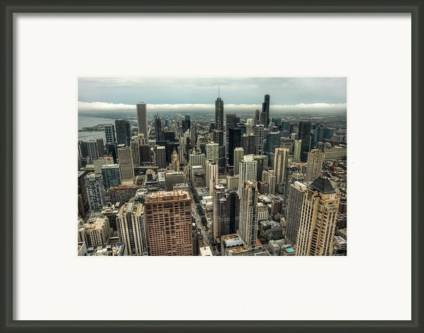 96 Floors Up Above Chicago Framed Print By Noah Katz
