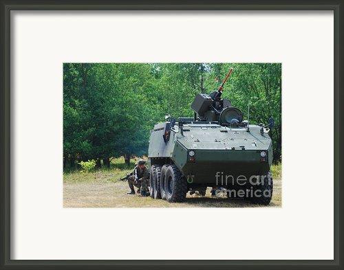 A Belgian Army Piranha Iiic With The Fn Framed Print By Luc De Jaeger