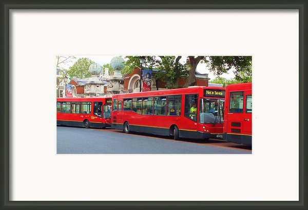 A Bevy Of Buses Framed Print By Anna Villarreal Garbis