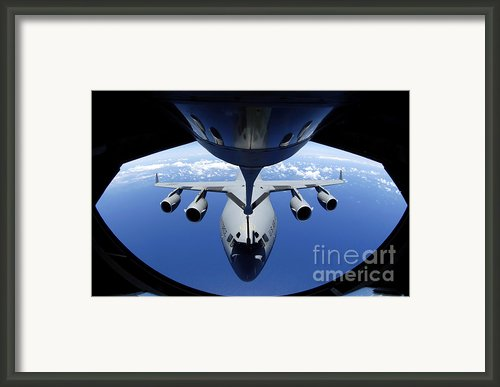 A C-17 Globemaster Iii Receives Fuel Framed Print By Stocktrek Images
