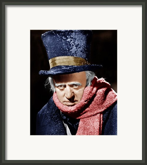 A Christmas Carol, Alastair Sim, 1951 Framed Print By Everett