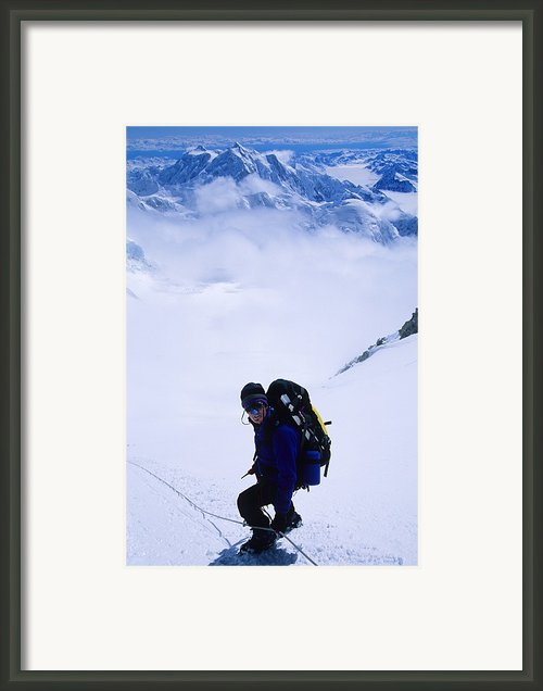 A Climber On The Descent Framed Print By Bill Hatcher