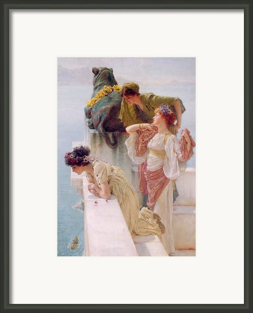 A Coign Of Vantage Framed Print By Sir Lawrence Alma-tadema