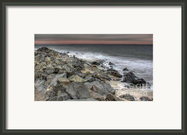 A Cold Day On A December Beach Framed Print By Lee Dos Santos