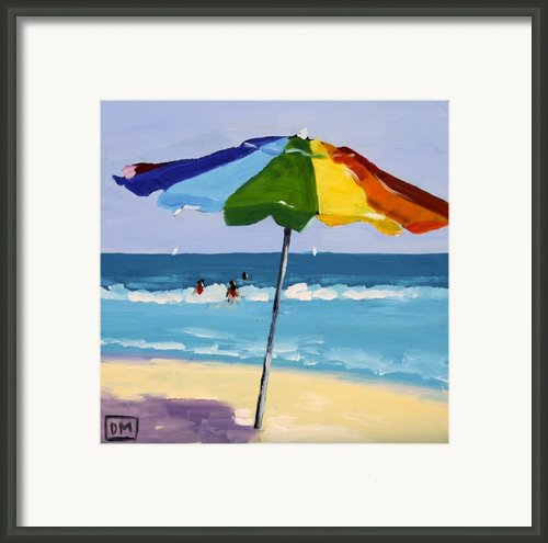 A Colorful Spot Framed Print By Debbie Miller